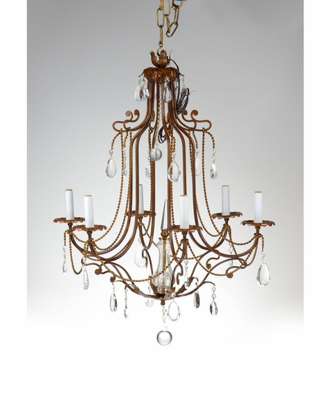 9040 Wildwood Lamps Iron With Crystals Chandelier