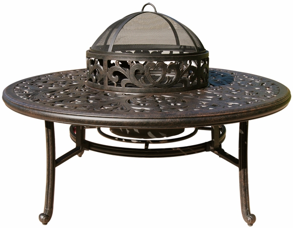 Dl80 Q B Darlee 52 Quot Round Tea Height Patio Table With Ice