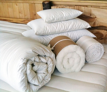 Holy Lamb Organics Wool Pillows, Comforters, Toppers & Moisture Barrier Mattress Pads