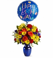 flowers and balloon
