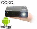 AAXA LED Android Pico Projector, 550 Lumens with Android OS, 720P HD Resolution, WiFi and Bluetooth onboard, HDMI, VGA, Composite AV inputs, and 20,000 hour LED