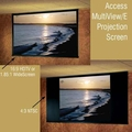 Draper Access MultiView Series/E Electric Masking Projection Screen