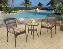 Calais Bistro Set of Three (MF)