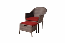 Ciprus Chair and Stowaway Ottoman (UPS $125)