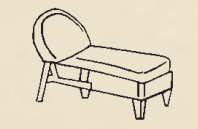 Heirloom Adjustable Chaise Seat & Back Cushions with Fran's Indoor/Outdoor Fabrics (UPS $25)