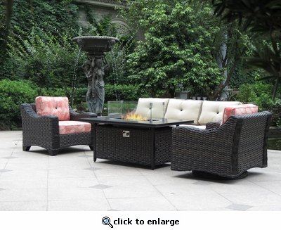 Hyde Park Fire Pit Coffee Table (MF)