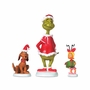 Dept 56 Grinch Village Grinch, Max, and Cindy-Lou Who