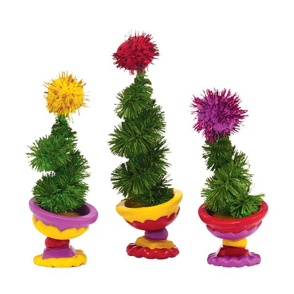 Dept 56 Grinch Village Wonky Tree Topiaries Set of 3 - Fast & Easy ...