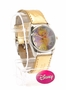 Disney Tinker Bell Gold Leather Band Watch