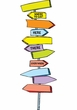 Dr. Seuss Blank Directional Signs Mini Bulletin Board Set