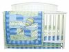 Dr. Seuss Blue Oh! The Places You'll Go 3 Piece Crib Bedding Set