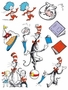 Dr. Seuss Cat In The Hat Characters Window Clings