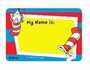 Dr. Seuss Colorful Cat in the Hat Name Tag Stickers 25 Pack