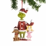 Dr. Seuss Grinch, Cindy-Lou Who & Max Glittered Ornament