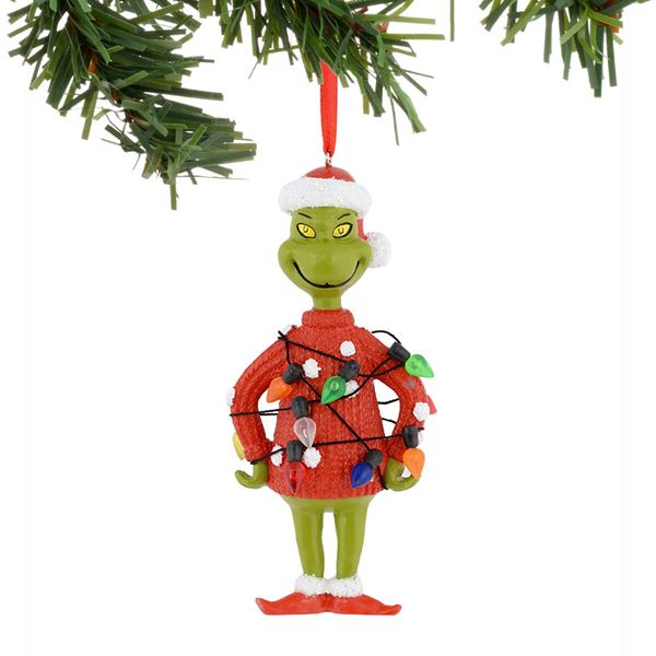 Dr. Seuss Grinch Lights Sweater Ornament - Fast & Easy Shipping ...