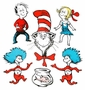 Dr. Seuss Large Cat in the Hat Characters 2 Sided Decoration Kit