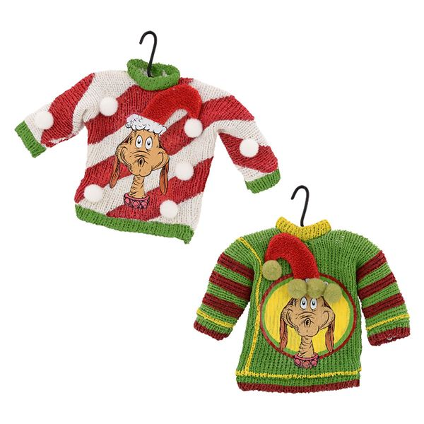 Dr. Seuss Max Face Sweater Ornament Set of 2 - Fast & Easy Shipping ...