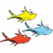 Dr. Seuss One Fish Two Fish Paper Cut Outs 36 Pack