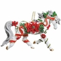 Horse of a Different Color Poinsettia Arabian Horse Ornament