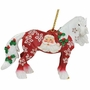 Horse of a Different Color Santa Claus Clydesdale Horse Ornament