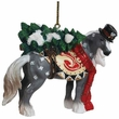 Horse of a Different Color Snowy Ornament