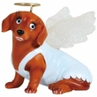 Hot Diggity Dog Angel Doxie Figurine