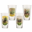 John Deere 4 Piece 16oz Glass Set
