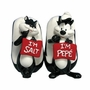 Looney Tunes Pepe Le Pew & Penelope Salt And Pepper Shakers