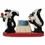 Looney Tunes Pepe Le Pew & Penelope Salt and Pepper Shakers Toothpick Holder