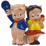 Looney Tunes Porky Pig and Petunia Back to Back Salt & Pepper Shakers