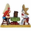 Looney Tunes Yosemite Sam & Bugs Bunny Salt and Pepper Shakers Toothpick Holder