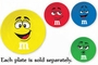 M&M's Character Face Melamine Plate Blue