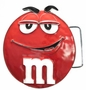 M&M's Red Character Face Metal Belt Buckle
