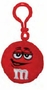 M&M's Red Character Face Plush Clip