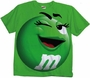 M&M's Supersize Print Green Character Adult T-Shirt