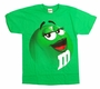 M&M's Supersize Print Green Character Adult T-Shirt Size XXL