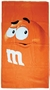 M&M's Supersize Print Orange Character Beach Towel