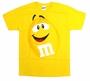 M&M's Supersize Print Yellow Character Adult T-Shirt Size XL