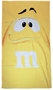 M&M's Supersize Print Yellow Character Beach Towel