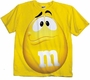 M&M's Supersize Print Yellow Character Youth T-Shirt Size XS