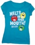 M&M's Turquoise Melt In Your Mouth Juniors T-Shirt