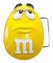 M&M's Yellow Character Face Metal Belt Buckle