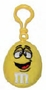 M&M's Yellow Character Face Plush Clip