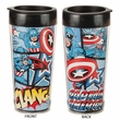 Marvel Captain America 16oz Plastic Travel Mug