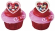 Mickey Mouse and Friends Valentine Sweetheart Cupcake Rings 12 Pack