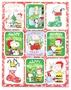 Peanuts Christmas Glitter Stickers 36 Pack