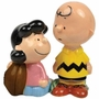 Peanuts Lucy and Charlie Brown Football Magnetic Salt & Pepper Shaker Set