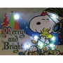 Peanuts Merry And Bright 6x8 Lighted Canvas Wall Art