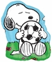 "Peanuts Snoopy with Soccer Ball 28"" Super Shape Balloon"