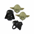 Star Wars Darth Vader and Yoda Cupcake Rings 12 Pack